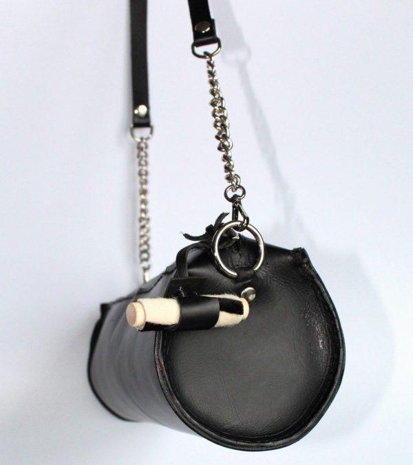 lateral del bolso cilindro