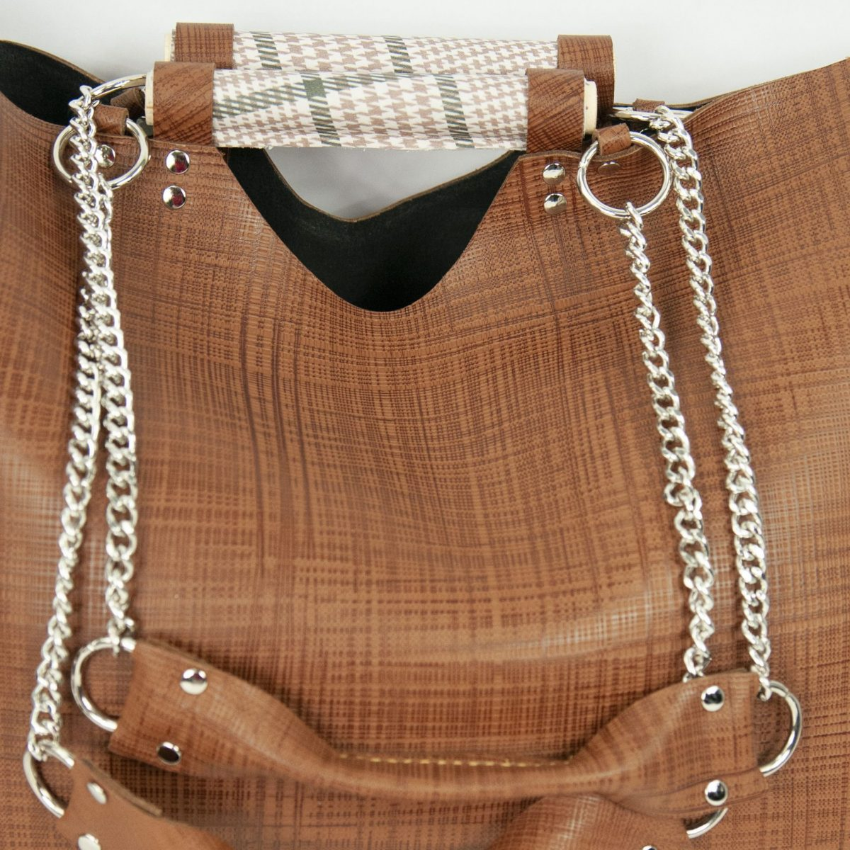 SHOPPER DE PIEL MARRON