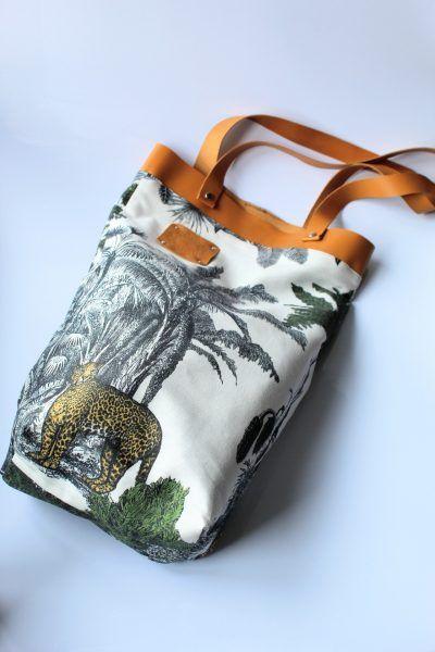 bolsa playa estampado Tigre