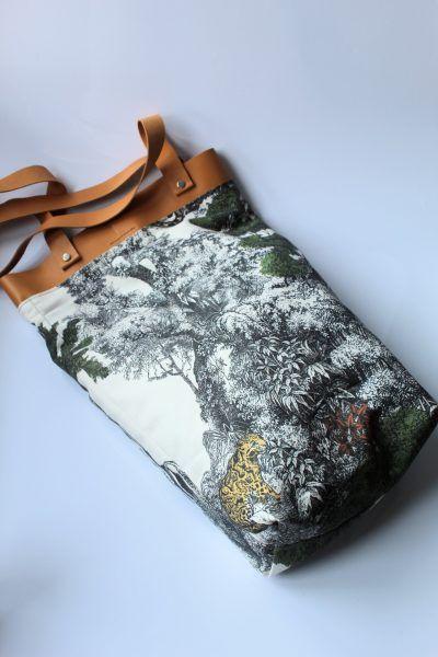 bolsa de playa estampado selvatico