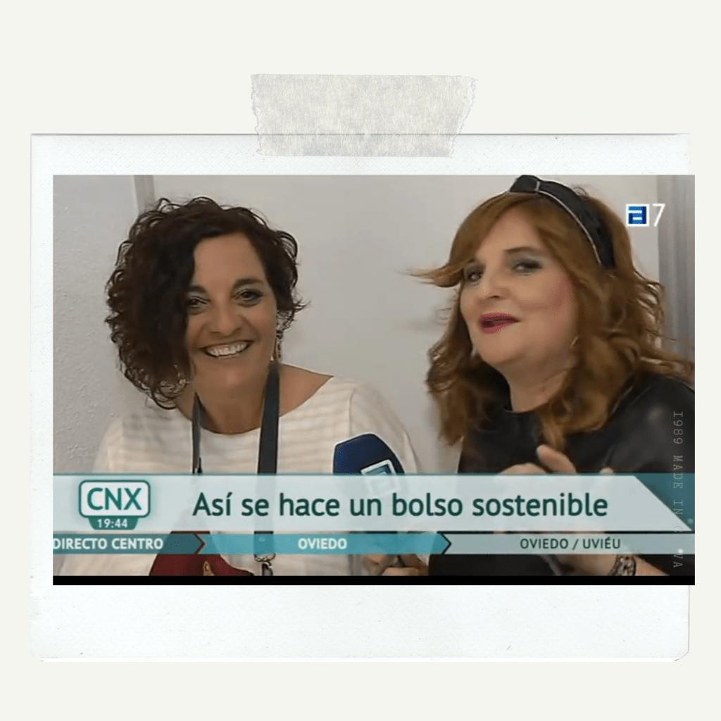 momento de entrevista tv bolsos ecologicos