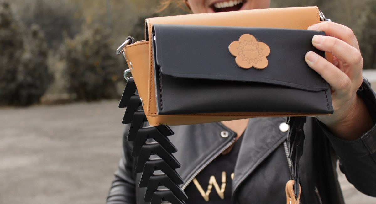 bolso caja con bolso negro